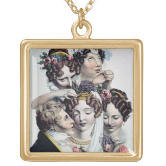 The Bride, c.1820 (litho) Gold Plated Necklace