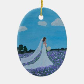 The Bride Ceramic Oval Decoration