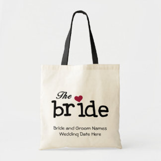 The Bride Customized Tote Bag