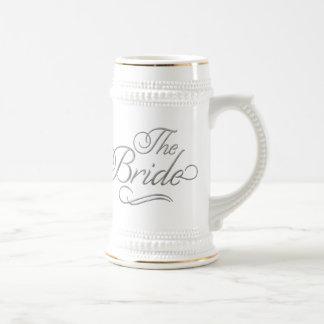 The Bride Honeymoon Beer Mug Silver
