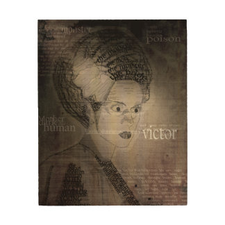 The Bride of Frankenstein Wood Print