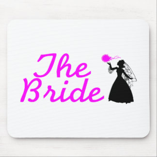 The Bride Pink and Black Bride Mouse Pad
