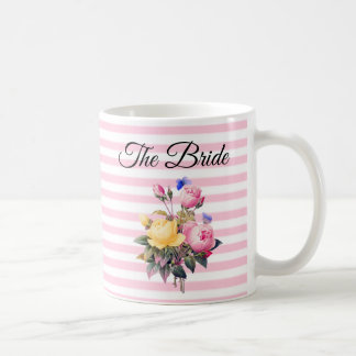 The Bride Pink Rose Bouquet Personalized  Mug