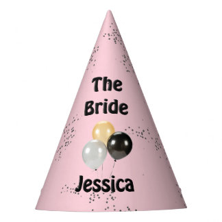 The Bride Pink Shower Party Hat