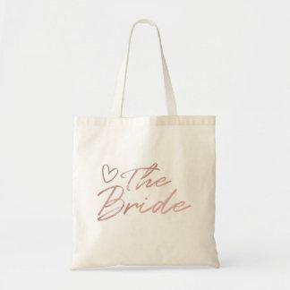The Bride - Rose Gold faux foil tote bag