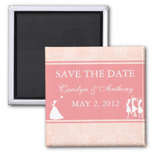 The Bride Rose Pink SAVE THE DATE Magnet