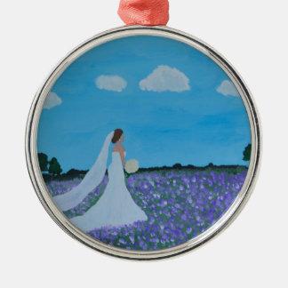 The Bride Silver-Colored Round Decoration
