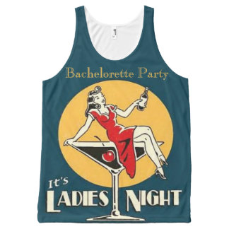 The bride, team bride,bachelorette party All-Over print tank top