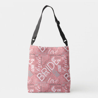 The Bride Word Cloud White ID253 Crossbody Bag