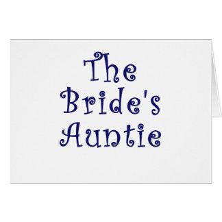 The Brides Auntie Card