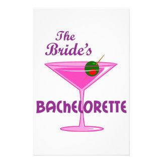 The Bride's Bachelorette Stationery Design