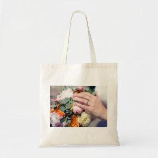 The bride's bouquet tote bag