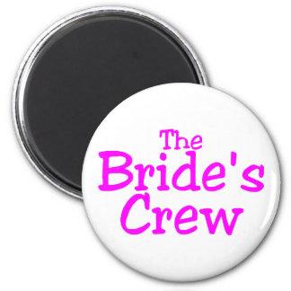 The Brides Crew (Pink) 6 Cm Round Magnet
