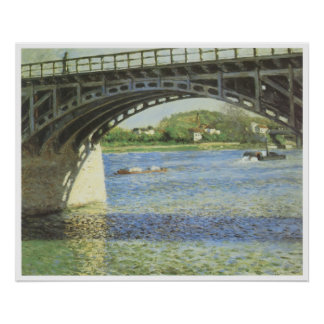 The Bridge at Argenteuil and the Seine, 1885 Poster