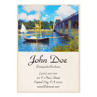 The Bridge at Argenteuil Claude Monet Pack Of Chubby Business Cards