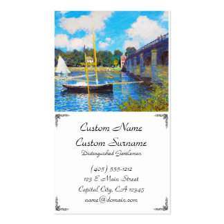 The Bridge at Argenteuil Claude Monet Pack Of Standard Business Cards