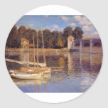 The Bridge at Argenteuil Claude Monet Stickers