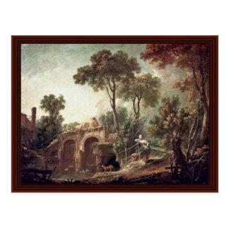 The Bridge By Boucher François Post Card
