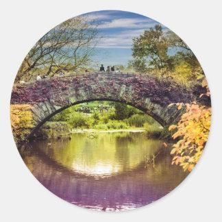 The bridge classic round sticker