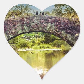 The bridge heart sticker