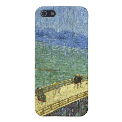 The Bridge in the Rain (after Hiroshige) Van Gogh iPhone 5 Case