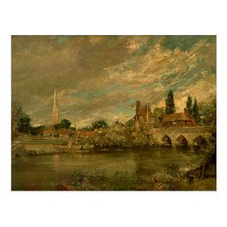 The Bridge of Harnham and Salisbury Cathedral Postcard