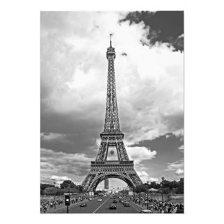 The bridge of Jena with a view of the Eiffel Tower Photo Print