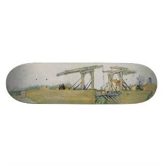 The Bridge of Langlois by Vincent Van Gogh Custom Skate Board