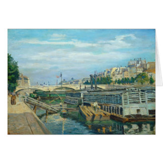 The Bridge of Louis Philippe, 1875 (oil on canvas) Card