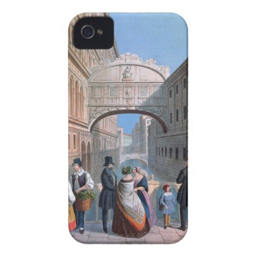 The Bridge of Sighs, Venice, engraved by Brizeghel iPhone 4 Covers