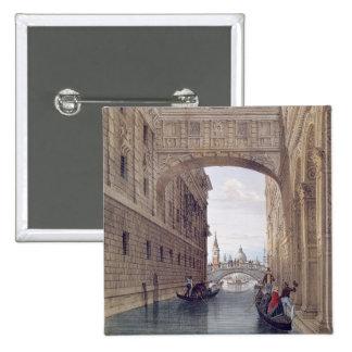 The Bridge of Sighs, Venice, engraved by Lefevre ( 15 Cm Square Badge