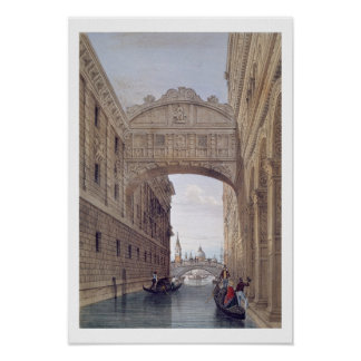 The Bridge of Sighs, Venice, engraved by Lefevre ( Poster