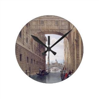 The Bridge of Sighs, Venice, engraved by Lefevre ( Round Clock