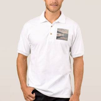 The bridge with water drops polo t-shirts