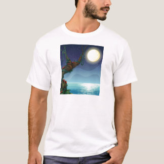 The bright moon and the big tree T-Shirt