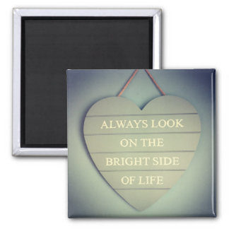 The Bright Side 2 Inch Square Magnet