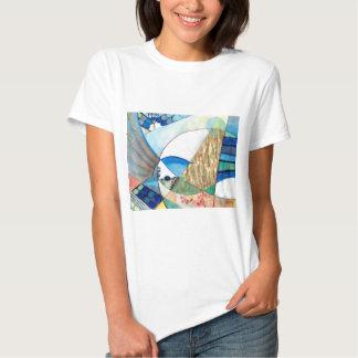 The Brilliant Bluejay Wildlife Painting Shirt