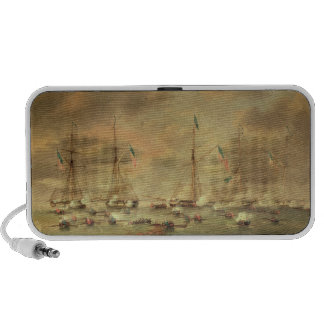The British and American Fleets Engaged on Lake Bo Portable Speakers