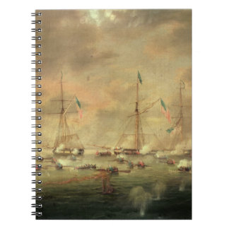 The British and American Fleets Engaged on Lake Bo Spiral Note Book