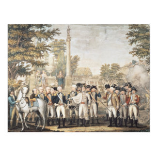 The British Surrendering to General Washington Postcard