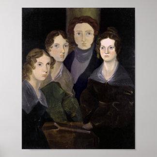 The Bronte Family Pillar Portrait Restoration Poster