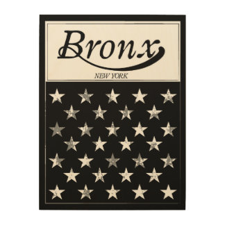 The Bronx | New York American Flag Wood Wall Art