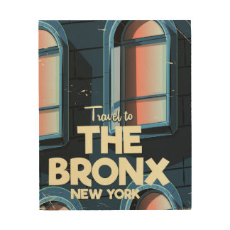 The Bronx New York City travel poster