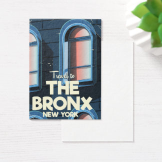 The Bronx New York City travel poster Business Card
