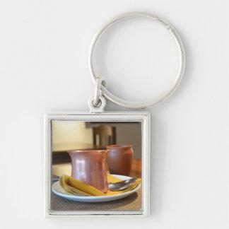 The Bronze Glass Key Ring