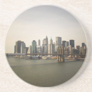 The Brooklyn Bridge and the New York City Skyline Beverage Coaster
