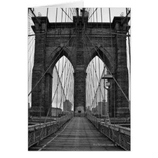 The Brooklyn Bridge in New York City Greeting Card