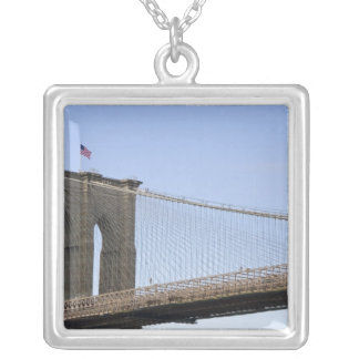 The Brooklyn Bridge in New York City, New 2 Square Pendant Necklace