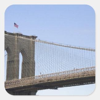 The Brooklyn Bridge in New York City, New 2 Square Sticker