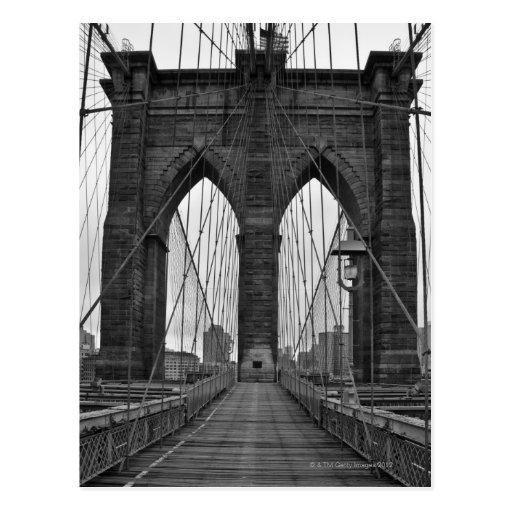 The Brooklyn Bridge in New York City Post Cards